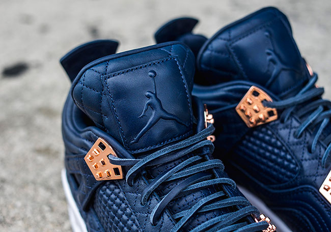 quality design 49a82 5dc39 Air Jordan 4 Premium Obsidian Navy White   SneakerFiles
