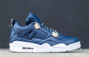 Air Jordan 4 Premium Obsidian White Gold