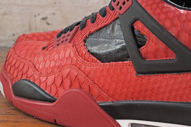 Air Jordan 4 Python Eel Custom