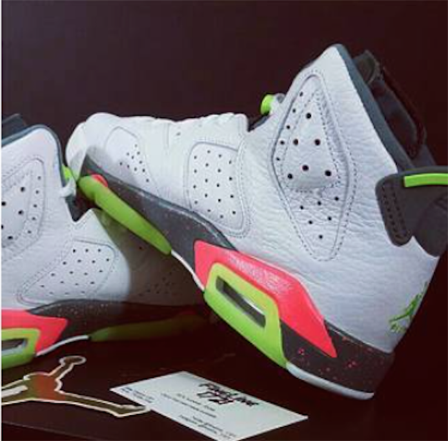 dc50263a7c71 Air Jordan 6 GS White Ghost Green Bright Mango