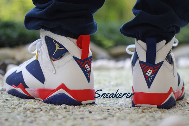 outlet store 134b2 1becb Air Jordan 7 Tinker Alternate On Feet