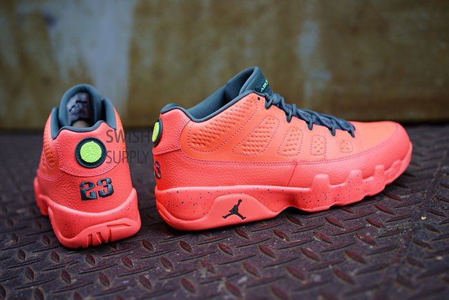 the latest 2ee71 6c706 Air Jordan 9 Low Bright Mango Hasta Ghost Green