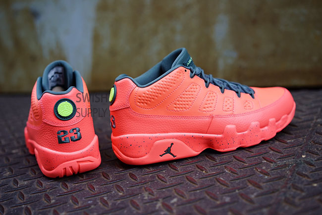 7a31d8a825a62c Air Jordan 9 Low Bright Mango Hasta Ghost Green