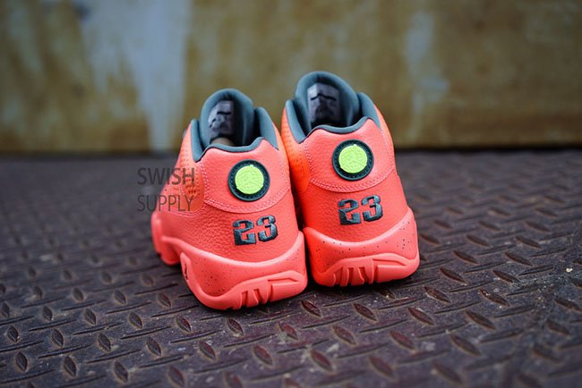 the latest 876a2 277c8 Air Jordan 9 Low Bright Mango Hasta Ghost Green