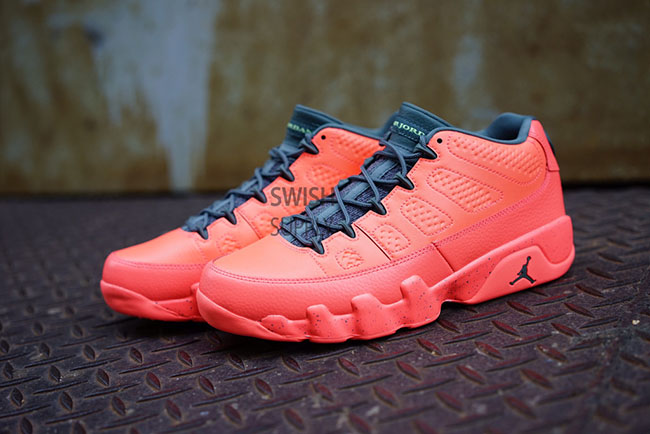 Air Jordan 9 Low Bright Mango Hasta Ghost Green