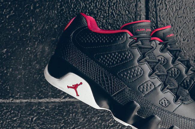Air Jordan 9 Low Chicago Black White