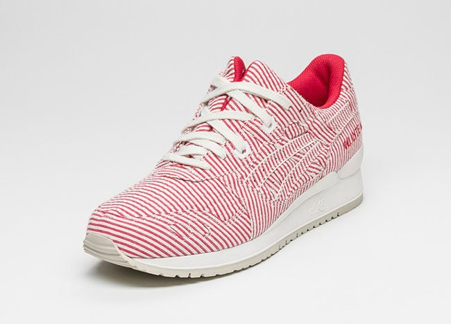 Asics Gel Lyte III Seersucker Red White