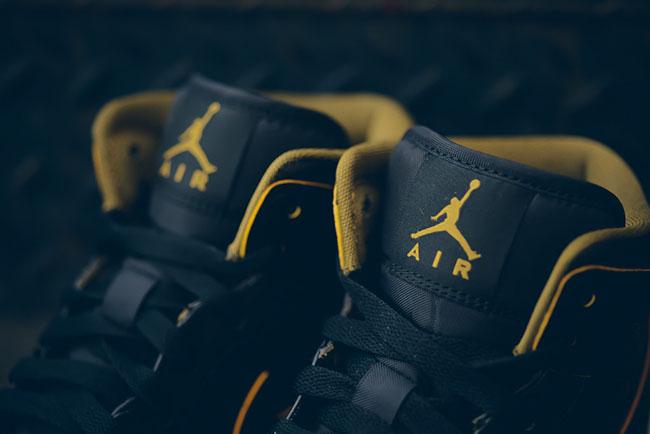 Black Gold Air Jordan 1 Mid GS