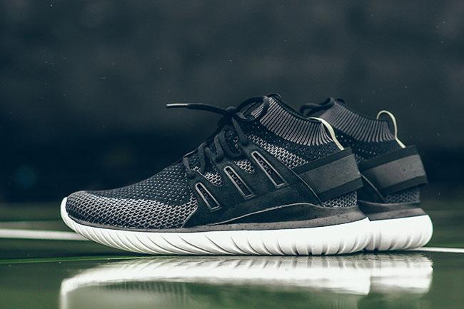 Black Grey adidas Tubular Nova Primeknit