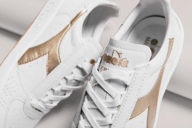 Diadora B Elite Gold Silver