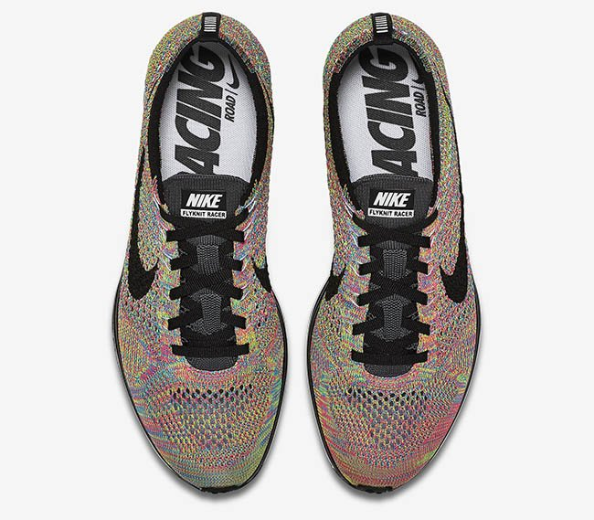 Grey Tongue Nike Flyknit Racer Multicolor 2016