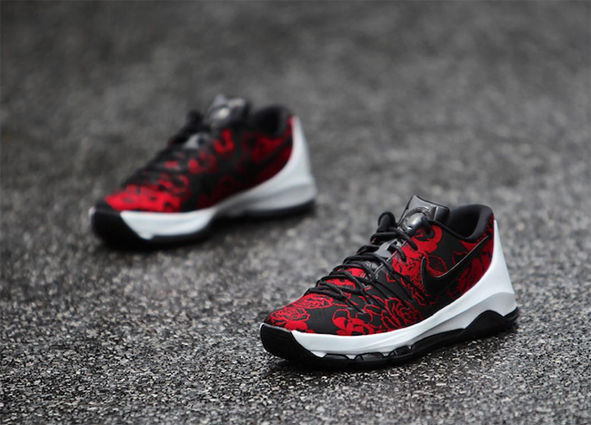 KD 8 Red Floral