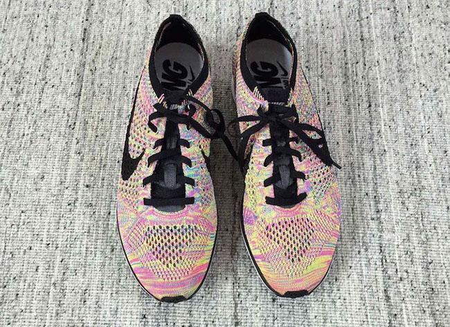 Multicolor Nike Flyknit Racer Grey Tongue 2016