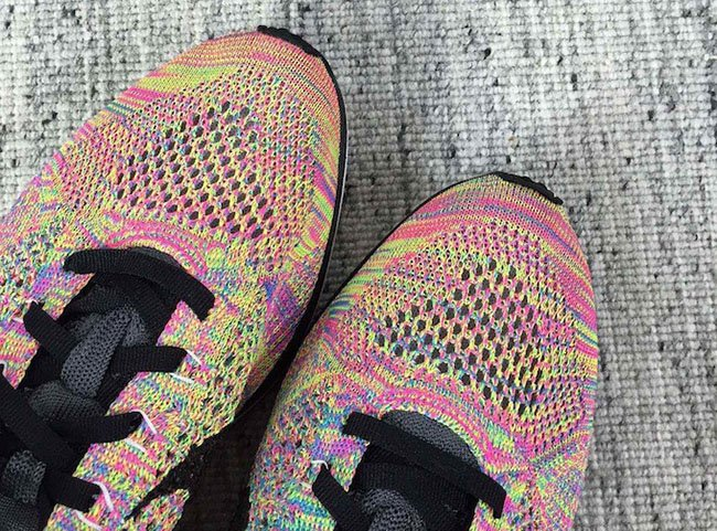 Multicolor Nike Flyknit Racer Grey Tongue 2016