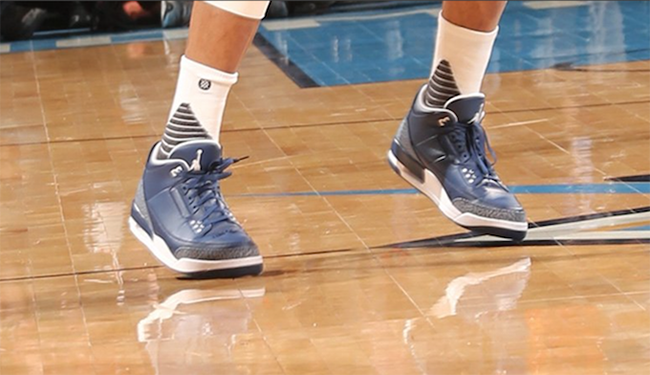 Navy White Air Jordan 3 Russell Westbrook