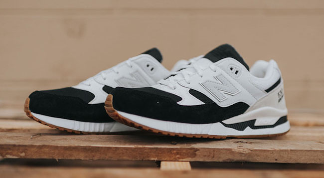 New Balance 530 White Black Gum