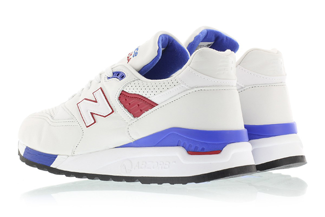 New Balance 998 White Blue Red