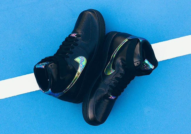 Nike Air Force 1 High Oil Slick Black