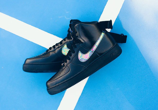 Nike Air Force 1 High Oil Slick Black