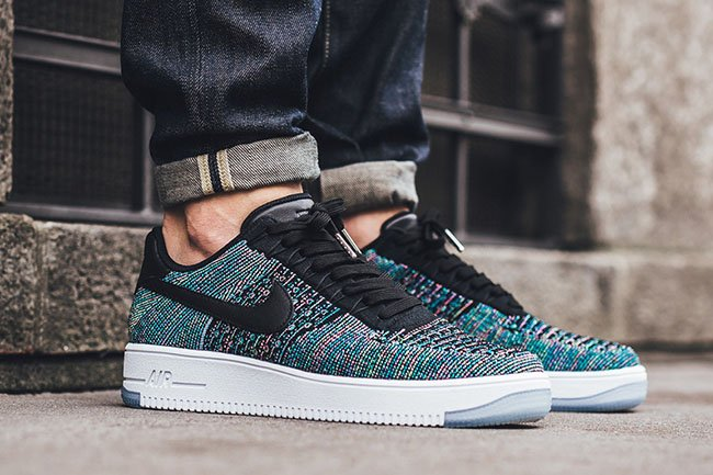 sale retailer 50945 9534b Nike Flyknit Air Force 1 Blue Lagoon Multicolor | SneakerFiles