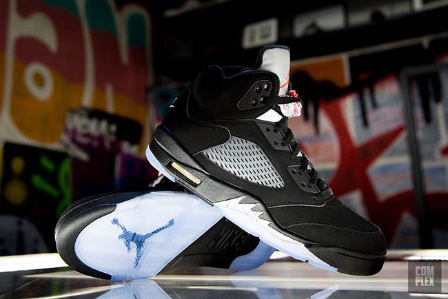 Nike Air Jordan 5 OG Black Metallic Silver 2016