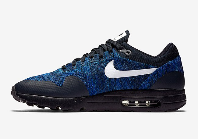 Nike Air Max 1 Ultra Flyknit Black Royal Blue