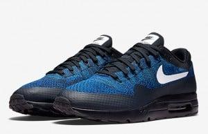 Nike Air Max 1 Ultra Flyknit Black Royal Blue