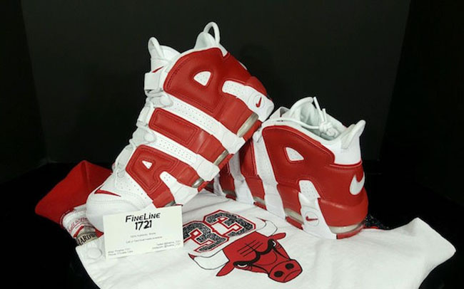 Nike Air More Uptempo White Gym Red Pippen