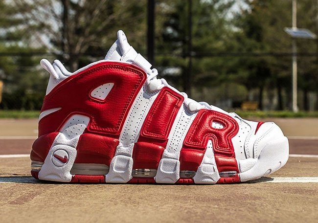 Nike Air More Uptempo White Gym Red Release
