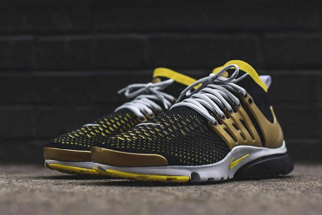 the best attitude baca6 0ec64 Nike Air Presto Ultra Flyknit Black Yellow Gold