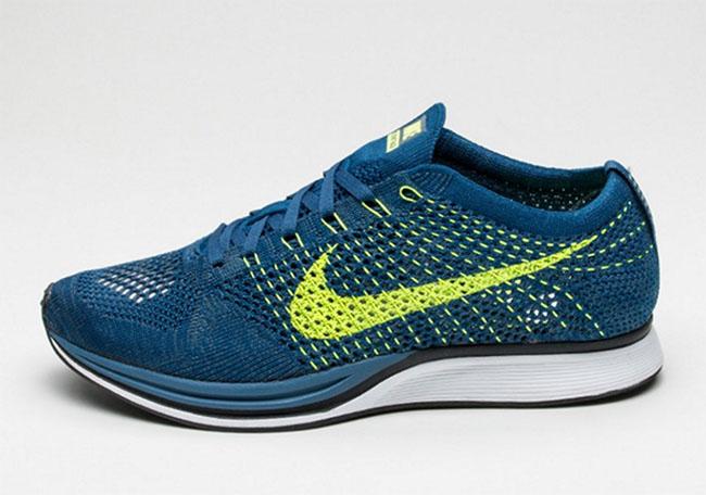 Nike Flyknit Racer Brave Blue Volt