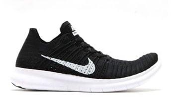 Nike Free RN Flyknit Black White