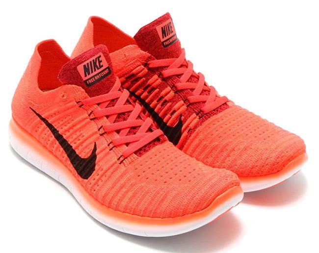 dba84d43d36059 Nike Free RN Flyknit Bright Crimson