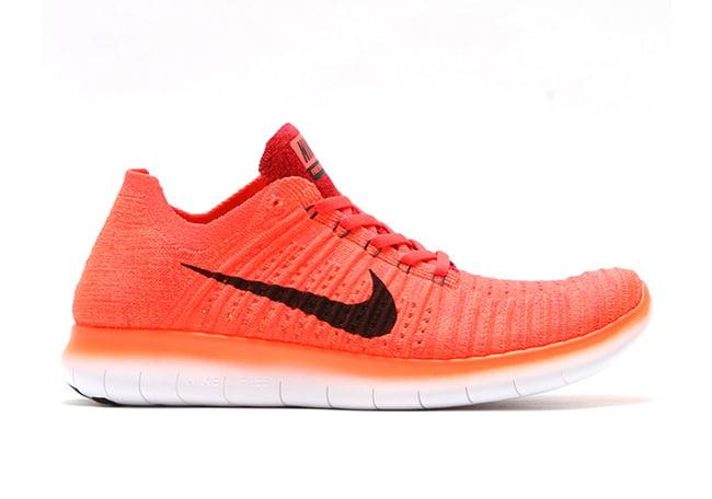 Nike WMNS Free RN Flyknit Bright Crimson Black Red