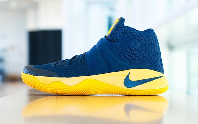 finest selection dd2f0 9bd43 Nike Kyrie 2 Navy Yellow Cavs