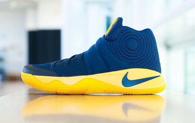 Nike Kyrie 2 Navy Yellow Cavs