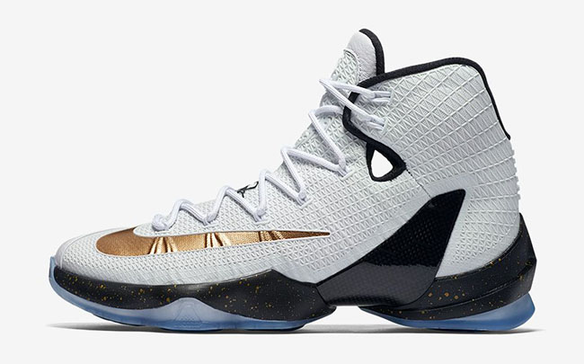 Nike LeBron 13 Elite Metallic Gold White Black