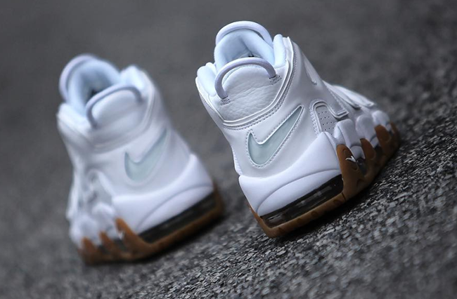Nike More Uptempo White Gum