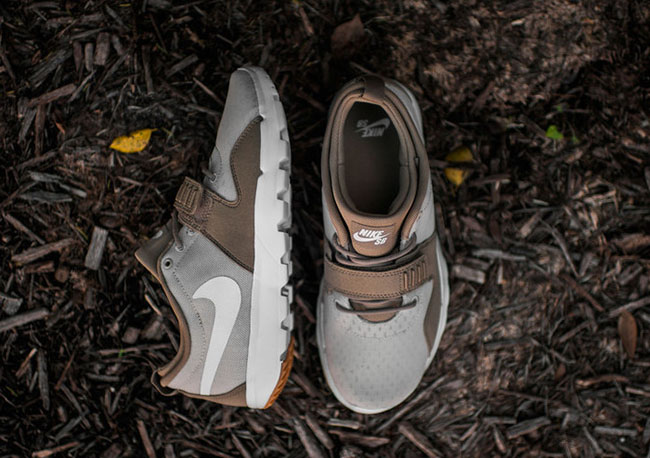 Nike Sb Trainerendor Sneaker khaki white lght brwn