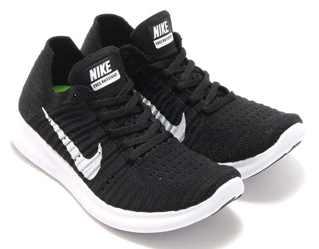Nike WMNS Free RN Flyknit Black White