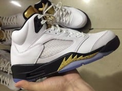 Olympic Air Jordan 5 2016 Gold Tongue