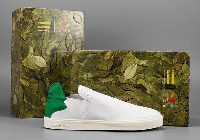 Pharrell adidas Pink Beach White Green