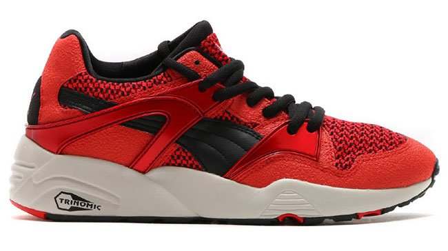 newest 29d72 c5d50 Puma Blaze Knit Risk Red