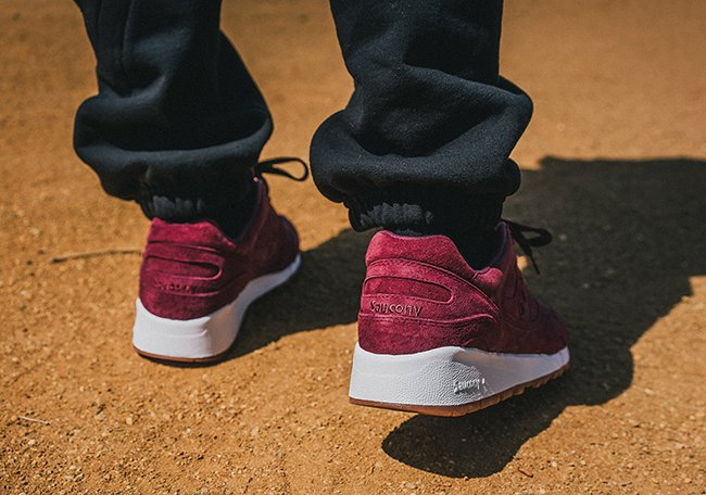 Saucony Shadow 6000 Burgundy Suede