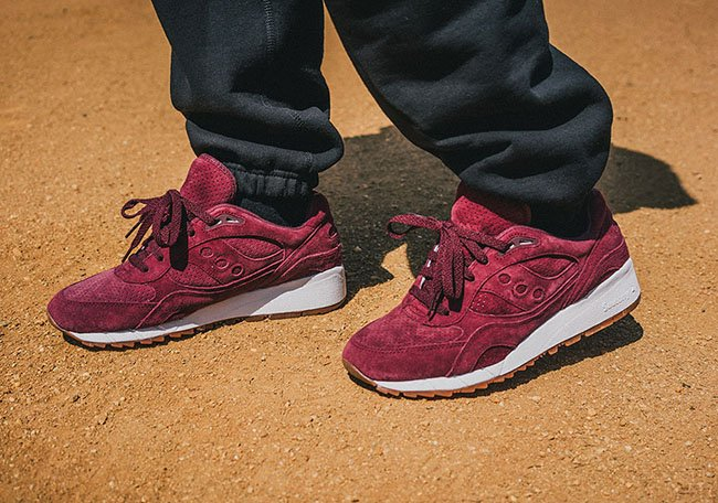 cheap for discount b95a5 7d083 Saucony Shadow 6000 Burgundy Suede | SneakerFiles