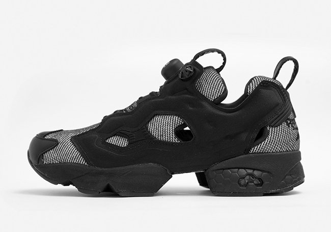 size Reebok Insta Pump Fury Black White