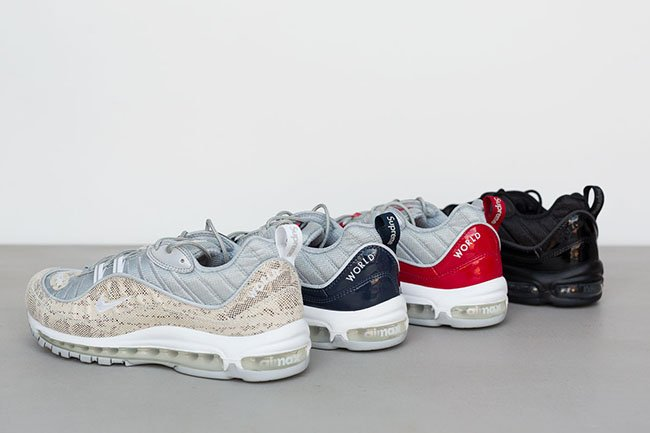 low priced 39bd4 fce80 Supreme Nike Air Max 98 | SneakerFiles