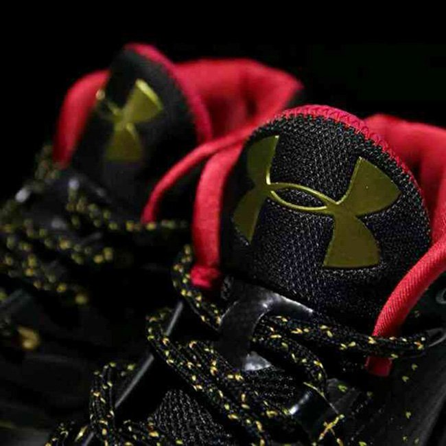 UA Curry 3 Black Red Gold