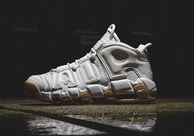 White Gum Nike Air More Uptempo