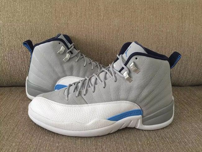 Air Jordan 12 Grey University Blue